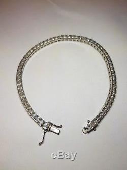 9ct white gold tennis bracelet