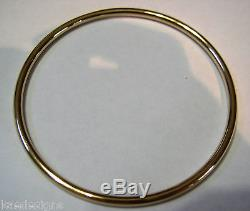 9ct yellow gold 3mm wide GOLF bangle 63mm inside diameter FREE EXPRESS POST