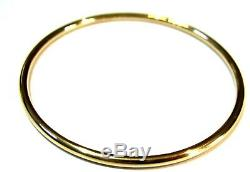 9ct yellow gold 3mm wide GOLF bangle 69mm outside diameter FREE EXPRESS POST