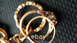 9ct yellow gold charm bracelet