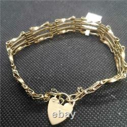 9ct yellow gold gate bracelet