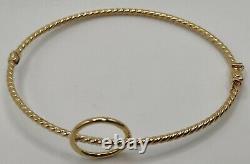 9ct yellow gold infinity hoop bangle halo woven style spiral twist bracelet