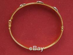 9ct yellow gold kiss bangle bracelet 7.0 grams