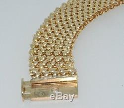 9ct yellow gold wide 30 gram flat bracelet