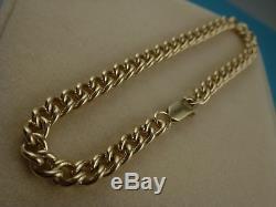 9k 9ct SOLID GOLD Curb Bracelet. Understated Charm. 5.4mm 19cm 14.88g