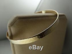 9k 9ct Solid Gold Bangle. Subtle Patterned Design. 5.6mm, 7cm 12.48g
