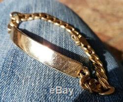 A Heavy 9ct Gold Men's 9 Bracelet. 32 grams