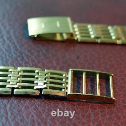 A MOST REMARKABLE 1970's VINTAGE MEN'S 9ct GOLD GATE BRACELET NEAR MINT CLASSIC