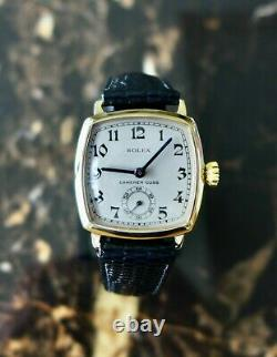 A STUNNING VINTAGE 1936 GENTS ROLEX IN SOLID 9ct GOLD RETAILED BY CAMERER CUSS