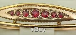 Antique 9ct Gold Bracelet / Bangle, Sapphires, Diamonds Chester 1911