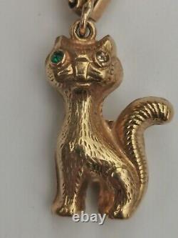 Antique 9ct Gold Charms Gate padlock Bracelet