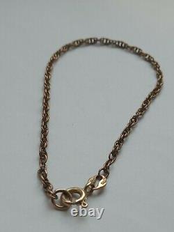 Antique 9ct Rose Gold Bracelet, 9ct Hallmarked