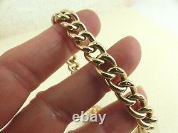 Antique 9ct Rose Gold Victorian Chain Bracelet & Padlock 8'