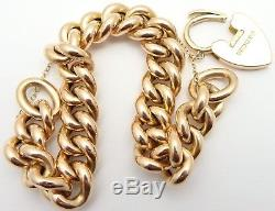 Antique 9ct rose gold chunky chain link 8 inch bracelet Weighs 31grams / 1 ounce