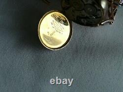 Antique Ladies 9ct Gold Stretch Bracelet Rolex Mechanical Watch