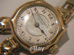 Antique Rolex Watch 9ct Gold With 9ct Gold Bracelet