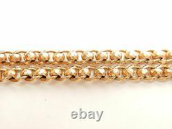 Antique Rose Gold Rollerball Albert Chain Bracelet 9 Carat