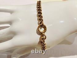 Antique Solid 9 Carat Rose Gold Albert bracelet