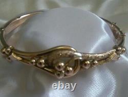 Antique Solid Gold Etruscan Revival Bracelet