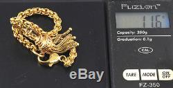 Antique Victorian 9Ct Gold Bracelet with Tassel Fob c 1880's