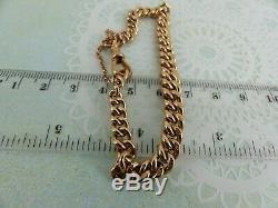 Antique Victorian 9ct 9carat Rose Gold Albert Chain Bracelet 7 1/2'' 20. Grams