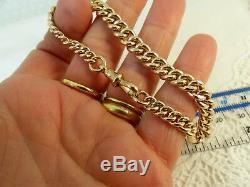 Antique Victorian 9ct 9carat Rose Gold Albert Chain Bracelet 8'' 21 grams