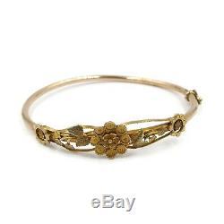 Antique Victorian 9ct Gold Bangle Bracelet