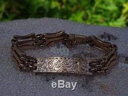 Antique Victorian 9ct Gold Ladies Gate Link Bracelet 20 grams Not Scrap