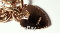 Antique Victorian 9ct Rose Gold Chunky Padlock Bracelet & Fitted Case