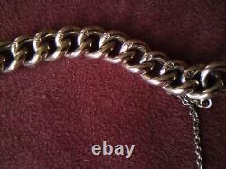 Antique Victorian 9ct Rose Gold Heart Padlock Night & Day Charm Bracelet 15.5 gm