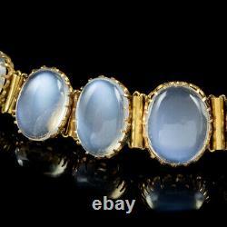 Antique Victorian Moonstone Bracelet 9ct Gold Circa 1880