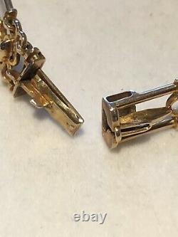 Antique Vintage 9ct Yellow Gold Cut Out Link Bracelet