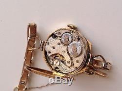 Antique/vintage ladies Rolex watch 9ct gold case and bracelet, working