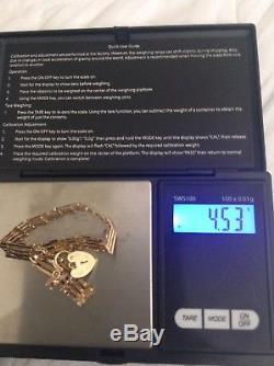 Antiques Gold 9ct Gate Bracelet