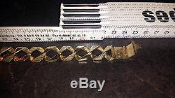 Armband Gold 9ct 9Karat 375 gestempelt Panzerkette Massiv echt Britische Kette