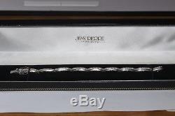 BEAUTIFUL 9ct WHITE GOLD 1.00ct DIAMOND BRACELET