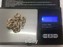 BRACELET BELCHER CHARM 9CT CARAT YELLOW GOLD 6.4g 20cm