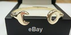 Baby/Child Spanner Bangle 9ct Solid Gold Gift Boxed