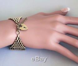Beautiful Vintage 1970's 9ct Gold 8 Bar Gate Bracelet UK Hallmarked London 16.2g