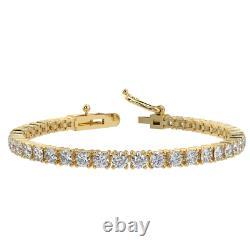 Best Seller! 2.00ct Round Diamond Tennis Bracelet, Hallmarked Yellow Gold