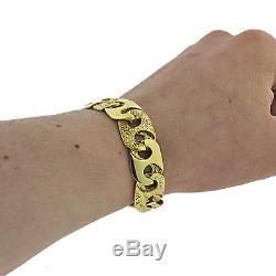 British Hallmarked 9ct Gold Ornate Heavy Mariner Link Bracelet 8 RRP £1850 GK1