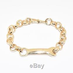 Children's Kid's Baby 9ct Gold Boy's Spanner Belcher Bracelet