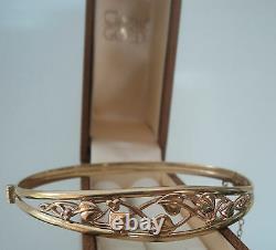 Clogau Welsh Gold Tree Of Life Bracelet / Bangle 9ct Yellow & Rose Gold