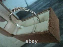 Clogau Welsh Gold Tree Of Life Bracelet / Bangle Stg. Silver & 9ct Rose Gold