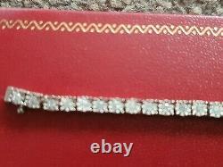 Diamond Tennis Bracelet 9ct White Gold Premium Diamonds 1. Ct