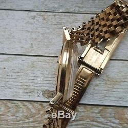 Ebel 9 ct Solid Gold Automatic Men's Watch On 9 ct Solid Gold Bracelet