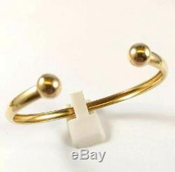 Elegant 9ct Gold Torque Bangle Full British Hallmarked