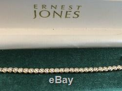 Ernest Jones 9ct Yellow Gold Solitaire Diamond Tennis Bracelet 0.50ct
