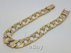 Fabulous 9ct Gold 7 1/2 Curb Link Bracelet. Goldmine Jewellers