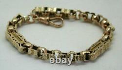 Fabulous Antique 9 Carat Gold Fancy Albert Bracelet